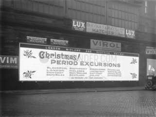 Poster at Manchester Victoria Station  18 December 1930.