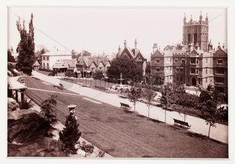 'Malvern  the Promenade Gardens'  c 1880.