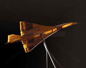 Wind tunnel model of Concorde used by the Royal Aircraft Establishment  1965.