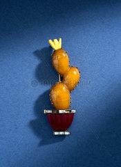 Imitation amber brooch  1940s.