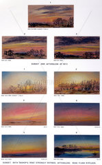 Sky sketches  Chelsea  London  9-10 May 1884.