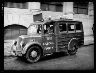 New Labour loudspeaker van for rural areas  1939.
