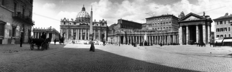 Panoramic view of St Peter's Square  Vatica
