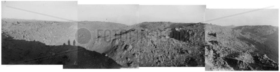 Explosion at munition dump  RAF Fauld  Staffordshire  29 November 1944.