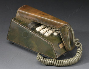 Trimphone with green leather cover  1975-1980.