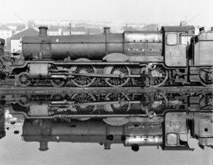 Nunhold Grange locomotive  Devon  29 October 1961.