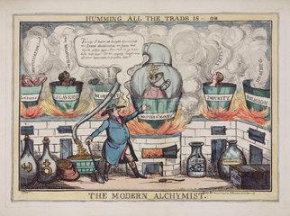 'The Modern Alchymist'  1827.