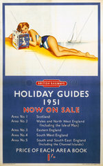 'Holiday Guides'  BR poster  1951.