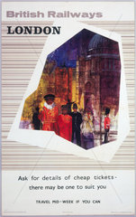 'London'  BR(ER) poster  1964.