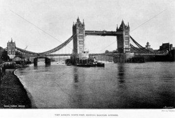 Tower Bridge  London  1894.