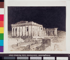 The Parthenon  Athens  from the north west  1851.