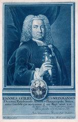 Johann Weinmann  German pharmacologist and botanical illustrator  c 1730s.