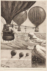 'Proposed Method of Reaching the North Pole by Balloons'  c 1880s.