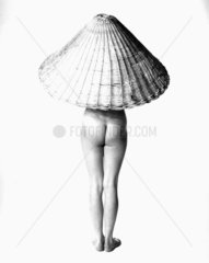 'Nude with Wicker Basket on Head'  3 May 1955.