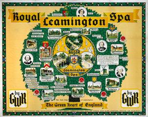 'Royal Leamington Spa'  GWR poster  1933.