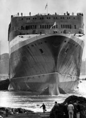'Queen Elizabeth II' shortly after launch  Clydebank  20 Spetember 1967.