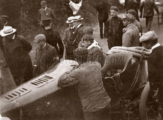 Fernand Gabriel in the Gordon Bennett Trophy race  Athy  Ireland  1903.