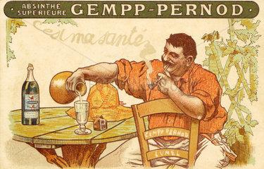 Absinthe Gempp Pernod  1912.