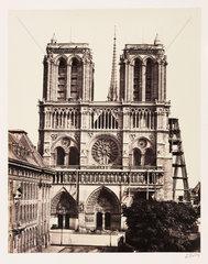 Notre Dame  Paris  c 1865.