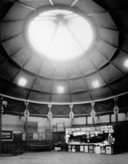 Dome at Norwich Victoria Station  1913. Man