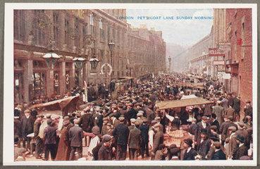 'London: Petticoat Lane Sunday Morning'  c 1914.