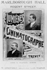 Lumiere brothers advertisement  c 1896.