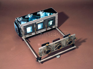 Three-colour projection apparatus  c 1900.