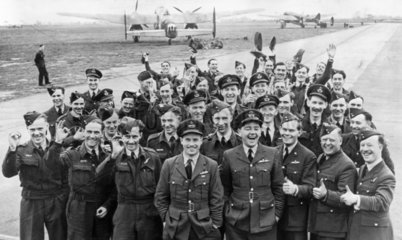 RAF pilots and crew  World War Two  1942.