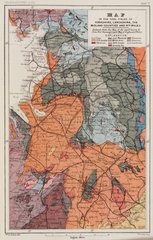 Map of the coal fields of north-west England  1869.