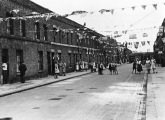 VE Day Celebrations  8 May 1945. A decorate