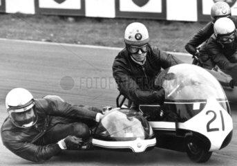 Motorcycle race  Oulton Park  Cheshire  April 1971.