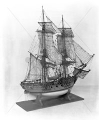 14-gun sloop  c 1711. Contemporary rigged m