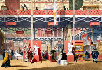 Italian stand at the Great Exhibition  Crystal Palace  London  1851.