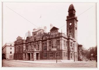 'Leamington  The Town Hall'  c 1885.