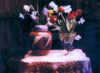 Still life with vases of flowers  1929.