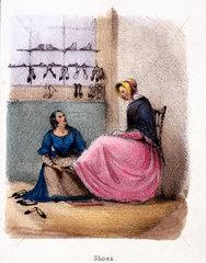 'Shoes'  c 1845.