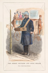 'Street rhubarb and spice seller'  19th century.