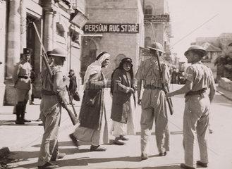 British troops at Jaffa Gate  Jerusalem  1938.