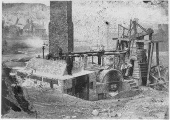 Newcomen Colliery winding engine  Coalbrook  Shropshire  c 1790.