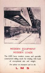 'Modern Equipment for Modern Loads'  LMS poster  1923-1947.