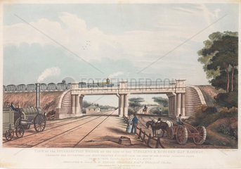 'View of the Intersection Bridge on the St Helen's to Runcorn Gap Railway'  1832.