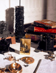 Display commemorating the life of computing pioneer Charles Babbage.