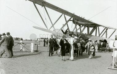 Disembarking passengers at Khartoum  Sudan  c 1930s.