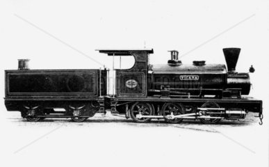 Narrow-gauge Barclay AB17 locomotive  early 20th century.