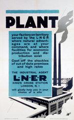 'Plant'  LNER poster  1923-1947.