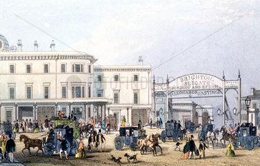 London Bridge Station  London  c 1851.