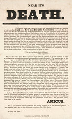 Newspaper article about the New Gas Friendly Association  1833.