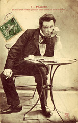 'L'Aperitif' postcard no 5  1900.