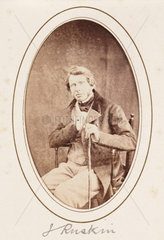 'J Ruskin'  c 1870.