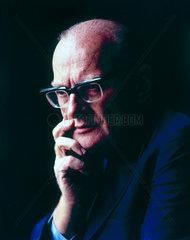 Arthur C Clarke  British science fiction author and inventor  c 1970s.